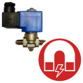 Solenoid valves for refrigerants