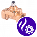 Pneumatically operated solenoid valves