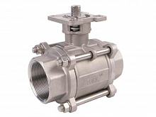 Stainless steel ball valve with ISO flange Tork KV903 DN 32