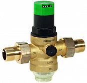 Diaphragm pressure reducing valve with pressure gauge Honeywell D06F-1/2AM DN 15