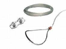Stainless steel cable for hanging pumps in boreholes and wells