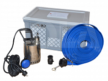 Flood set FK1KP150 with Grundfos pump and 10m hose