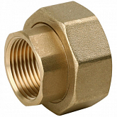 "Brass screw connection 1/2""x1"""
