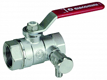Ball valve with draini Giacomini R250DS, chrome-plated DN50