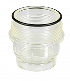 Transparent plastic strainer well with O-ring for Honeywell D06F pressure reducing valves